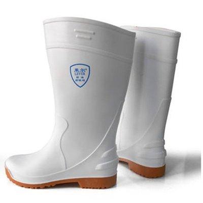 奇奇店a#特價萊爾LEVER食品衛生靴 耐油耐酸堿白色雨靴 安全防護靴#單件請聯繫客服