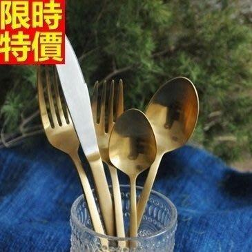 西式餐具組含刀叉餐具-北歐簡約風不鏽鋼牛排刀子叉子勺湯匙5件套西餐具套組68f18[德國進口][巴黎精品]