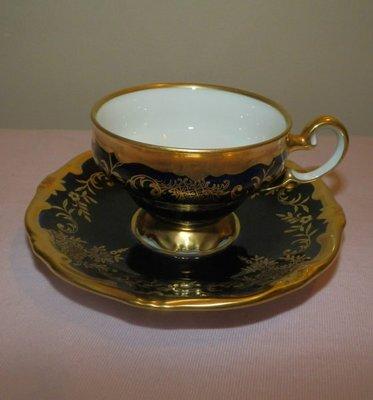 ☆德國名瓷  WEIMAR , COBALT & Gold  藍色鈷金系列  精緻杯組 ☆