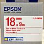 貓太太【3C電腦賣場】EPSON LK- 5WRN 白底紅...