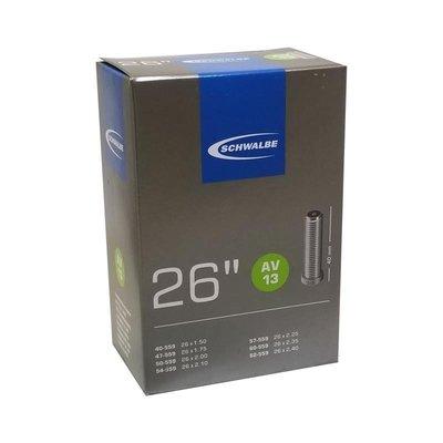 【速度公園】SCHWALBE 26 美式嘴內胎 AV13 盒裝 氣嘴長度 40mm 內胎 自行車 腳踏車 單車