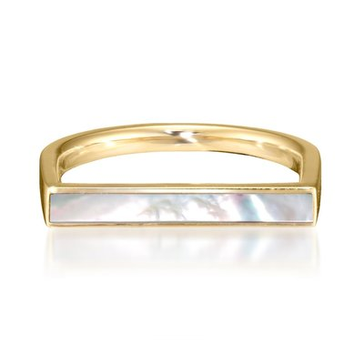 【日本代購】小店主的購物小店 Star Jewelry Girl 戒指 MOTHER OF PEARL BAR RING