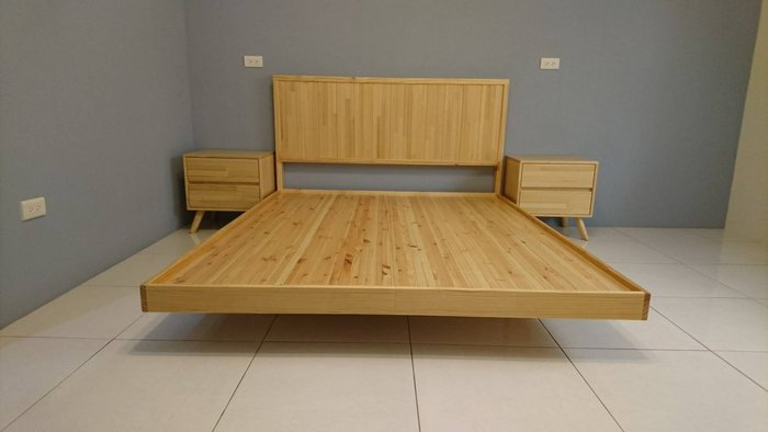 【森林原木手工家具】原木雙人床架