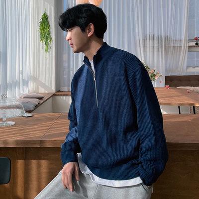 正韓男裝 拉鏈開襟針織衫 / 6色 / GP4291 KOREALINE 搖滾星球