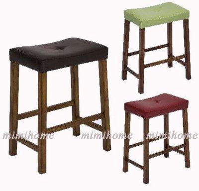 咪咪ㄉ窩 ☆皮製高腳椅 / 吧檯椅 / 餐椅  / 咖啡色/紅色/綠色