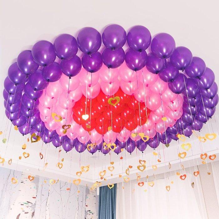 奇奇店-熱賣款 結婚用品浪漫告白婚房臥室裝飾創意兒童生日派對婚禮布置氣球(量大諮詢客服優惠喔)