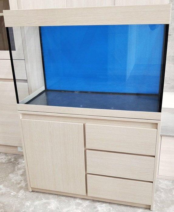 [J&D魚缸大賣場]3尺魚缸+木心板架[各式魚缸木架訂置全省配送]