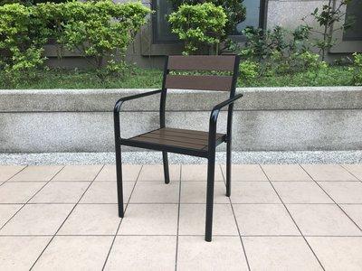 [兄弟牌戶外休閒傢俱]鋁合金塑木椅(深咖啡色)/ 1張~不生鏽,塑木超耐用疊起好收~餐飲營業自用,亦有整組桌椅商品選購。
