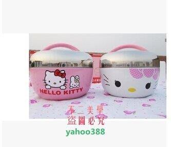 美學253日式Hello Kitty保溫飯盒兩層卡通不銹鋼蘋果型便當盒學生❖34188