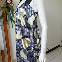WEALTH HONOR肩帶式緞面連身裙(S號)