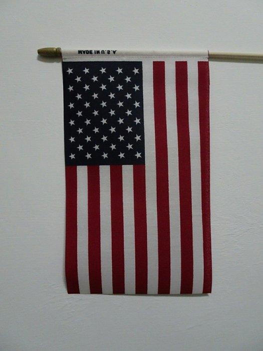 美國國旗33*24cm  國旗 美國旗 搖滾  USA 美國國旗 旗子 手拿旗 全新 美國製造