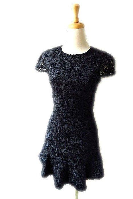 *Beauty*alice+olivia黑色短袖蕾絲洋裝  0號  9000 元WE19