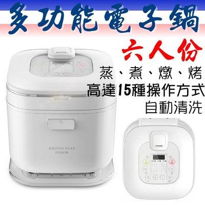 日本 AIWA 愛華 多功能電子鍋 RC6 3.0L 六人份 煮飯 煮麵 義大利麵 蛋糕 燉湯 嬰兒粥