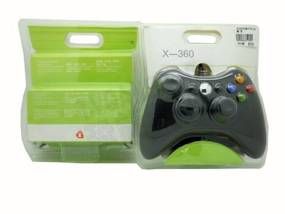 XBOX360 副廠有線手把 有線控制器 把手 搖桿(黑色)【台中恐龍電玩】