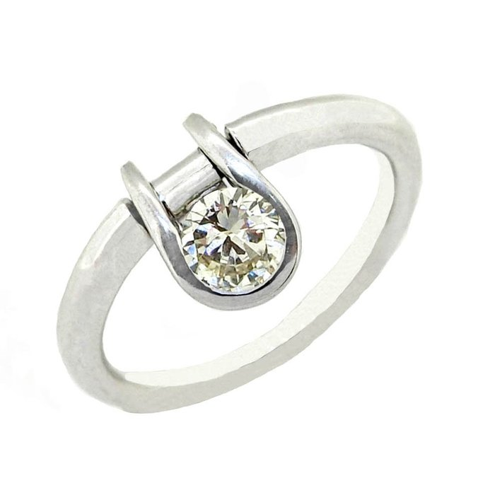 【JHT 金宏總珠寶/GIA鑽石專賣】0.126ct天然造型鑽戒/材質:14K(D000202)