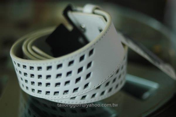 全新 adidas Golf 高爾夫真皮皮帶(白)運動休閒 時尚百搭 現貨38腰(適合36~40腰)