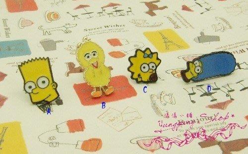 *。漾漾小舖*。超可愛的童趣卡通可愛小小人物耳環˙鋼【A1881】☆°可改細膠夾