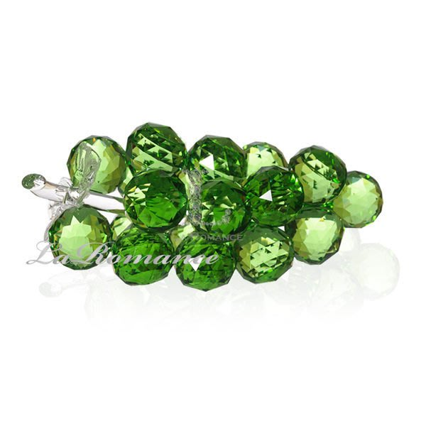 【芮洛蔓 La Romance】璀璨水晶葡萄 – 綠色  ( 綠色葉子)