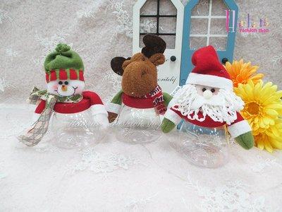 ☆[Hankaro]☆歐美創意聖誕布置道具聖誕造型透明糖果罐-小尺寸-(樣品出清)