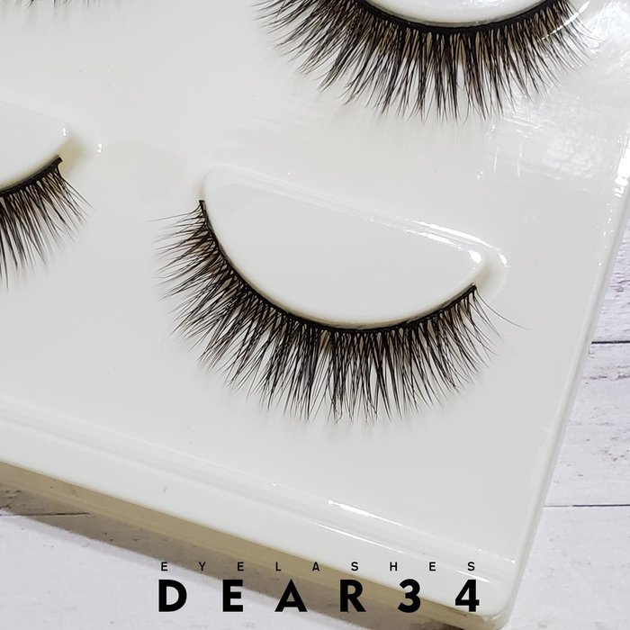 《Dear34》3D立體款3D-20黑梗眼中長根根分明 一盒三對價