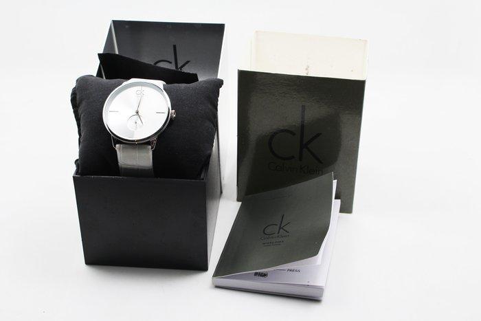 【高雄青蘋果】CK Calvin Klein Accent K2Y231K6 獨立秒針純白皮革腕表 二手 #10899