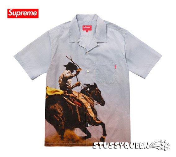 【超搶手】全新正品 2017 Supreme Cowboy Shirt 馬套 西部牛仔 工作襯衫 M