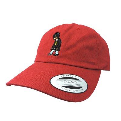 O'WEAR® × Bitmap_Area - Eazy-E 蔓越莓紅 老帽 彎帽 Dad Hat NWA 西岸 嘻哈