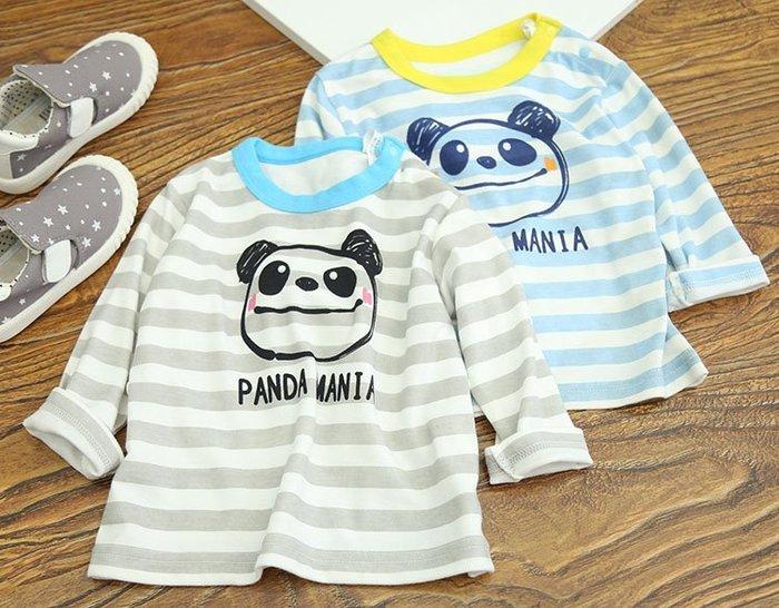 ☆100-100碼☆DD62可愛小熊  日系兒童長袖衣服 毛圈上衣T恤   男童 童T恤