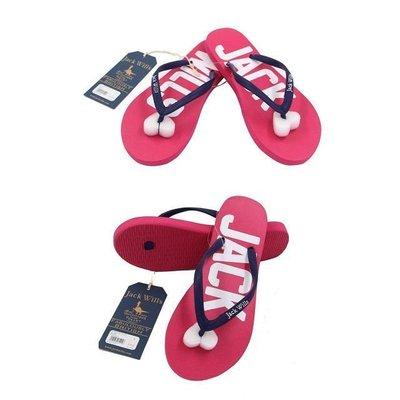 MISHIANA 英國品牌 JACK WILLS 女生款夏春款人字拖鞋 ( 新品上市 . 搭配容易喔 )