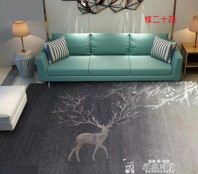 ins風北歐輕奢地毯客廳夏天辦公室臥室滿鋪床邊茶幾地墊簡約