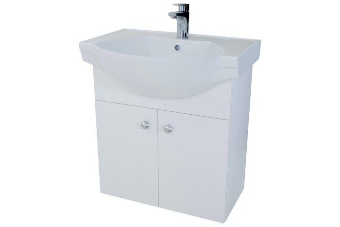 [勞倫斯衛浴生活商場] L0608瓷盆浴櫃組-寬約60CM 大肚盆 櫃體為防水發泡板 門片結晶鋼烤 [專業淋浴拉門]