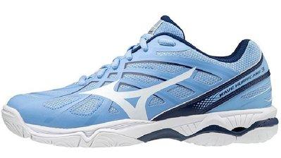 運動GO MIZUNO 美津濃 WAVE HURRICANE 3 排球鞋 桌球鞋 羽球鞋 女款 V1GC174029