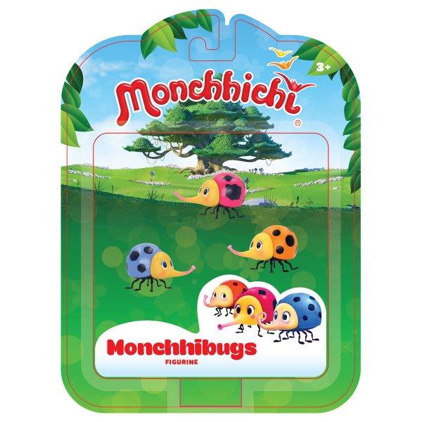 蒙奇奇 Monchhichi公仔-MONCHHIBUGS(三入) 蟲蟲貝拉公仔*3