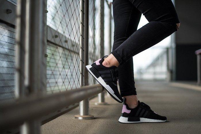 XinmOOn ADIDAS W NMD R1 B37649 網布 編織 黑白 粉 薫衣草紫 機能 慢跑鞋 襪套 女