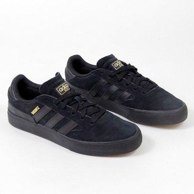 【吉米.tw】adidas 休閒鞋 Busenitz Vulc II 黑 男鞋 金標 麂皮 復古 FV5863 OCT