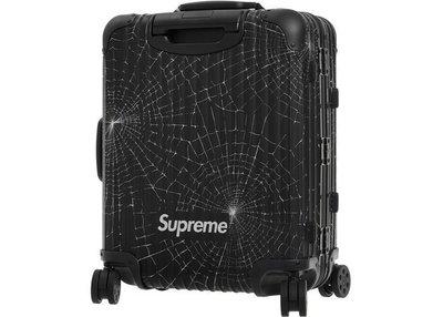 現貨含運 2019 Supreme x Rimowa 期間限定超限量蜘蛛網22吋/行李箱只有一個,全新品。