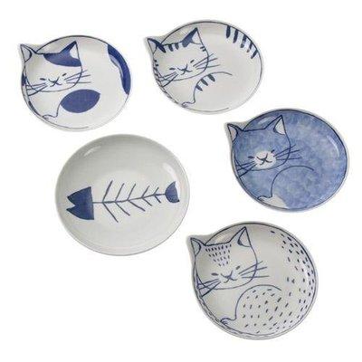 安心日本製  日本貓咪 碟子組(附木盒)