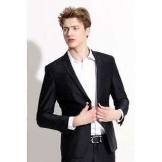 【90076】 職業男女OFFICE STAR 深藍色豹紋雙扣西裝外套