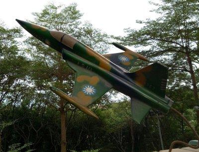 鋁合金[迷彩F-5E戰鬥機]模型     鐵支架   整體重約1.25kg