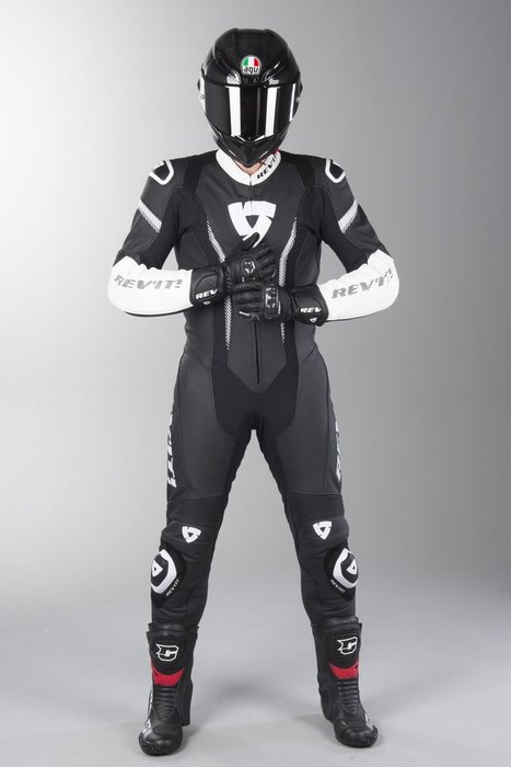 【柏霖動機 台中門市】荷蘭 REVIT  Argon 連身皮衣 FOL031 皮衣 連身  黑白 送賽道體驗