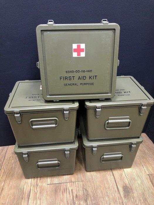 【JP.com】日本帶回 正品 美軍醫藥箱 (可手提) Vintage 可當收納箱 防潮箱 現貨在台