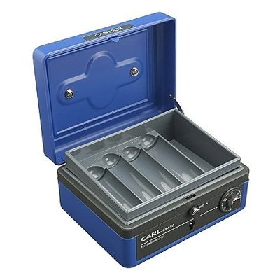 【優力文具】CARL CB-8100 藍色手提金庫/保險櫃