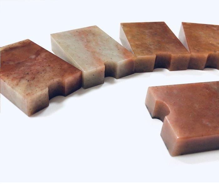 正大筆莊~『A級漳州石』連珠印 1.2×3.6×5㎝ 素章 規格章 篆刻 印石 連珠印