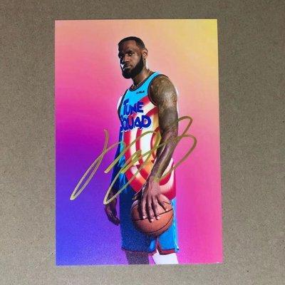 NBA 名人堂 球星詹姆斯簽名照 詹姆斯親筆簽名周邊禮物送朋友