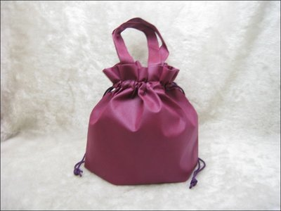 不織布束口袋(27*24)-BAG-031 素面無印刷(酒紅色*100只)