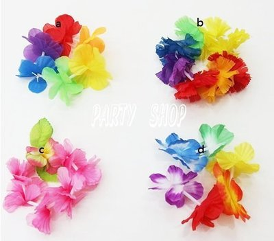 S10【派對樂】夏威夷花圈,草裙, 生日舞會尾牙派對用品__彩色夏威夷手環(A)