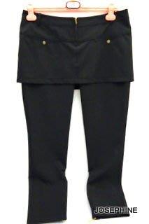 喬瑟芬【VIOLET】特價$7200~2011 春夏 黑色 假2件式 九分褲