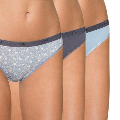 法國DIM-POCKETS「旅行輕便-彈力棉」系列三角褲3件組-夢幻藍-SL4C17-3Q5