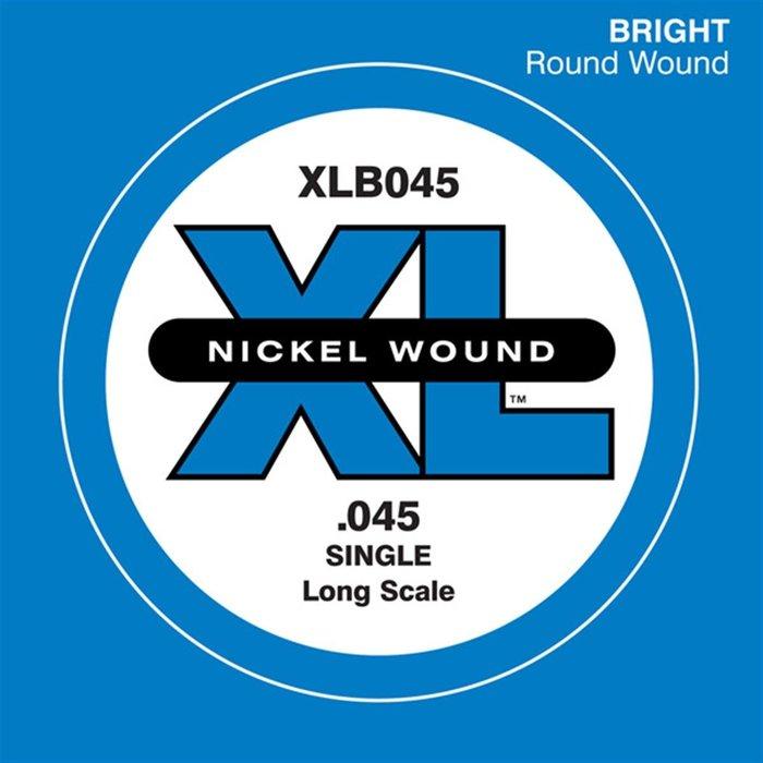 ☆唐尼樂器︵☆ Daddario XLB045 (.045) Bass 電貝斯 零弦 單弦