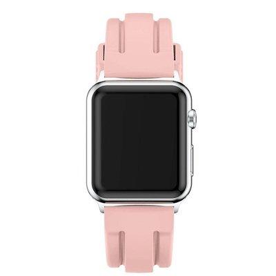 丁丁 Apple Watch矽膠雙凹線運動錶帶 iwatch 1/2/3/4代 38/42/40/44mm 多色選擇
